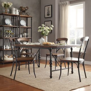 Etonnant INSPIRE Q Nelson Industrial Modern Cross Back 7 Piece Dining Set    Overstock™ Shopping