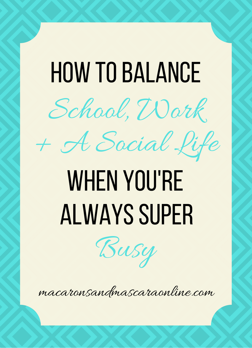 How To Balance School Work and Social Life in College  manage time in college  time management