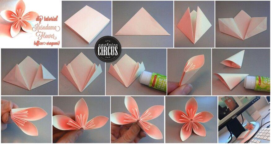 Origami flower i did it w a sticky note easy cute origami flower i did it w a sticky note easy cute mightylinksfo