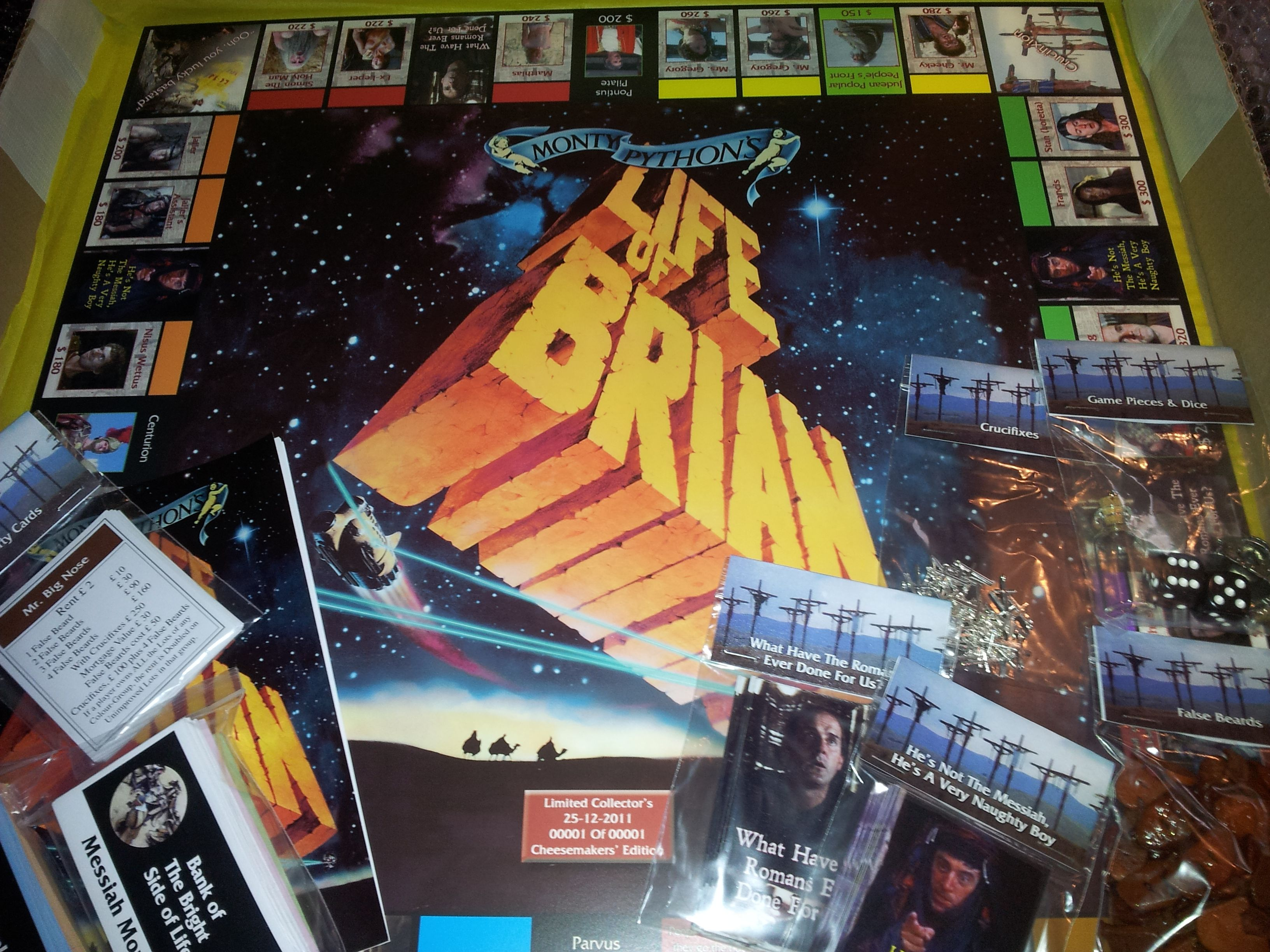 Monty Python's Life of Brian board. Fimo 'false beards