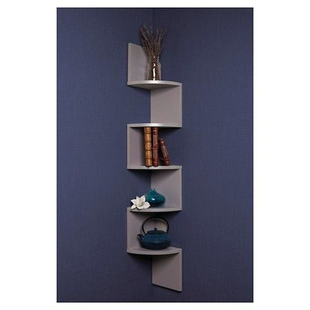 Target Floating Shelves Awesome Zig Zag Corner Shelf Grey  Corner Shelf Zig Zag And Shelves Inspiration Design