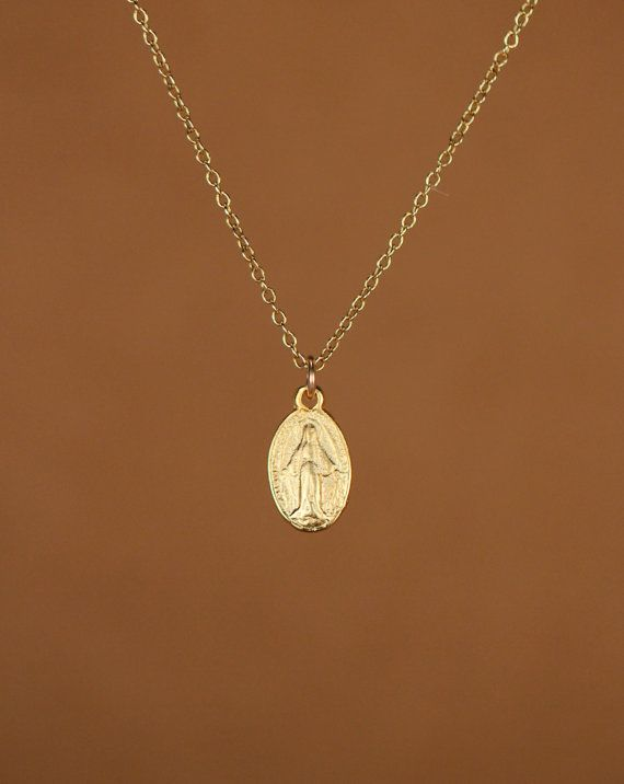 Virgin mary necklace - religious necklace - catholic