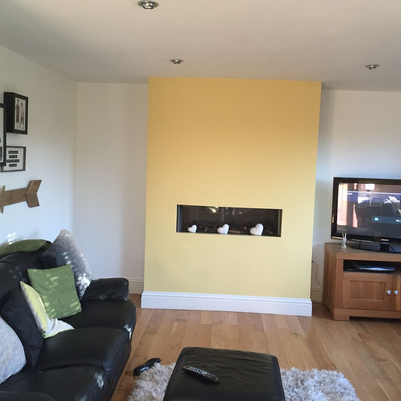 My new \'dulux sunny day \' feature wall | home decor | Pinterest ...