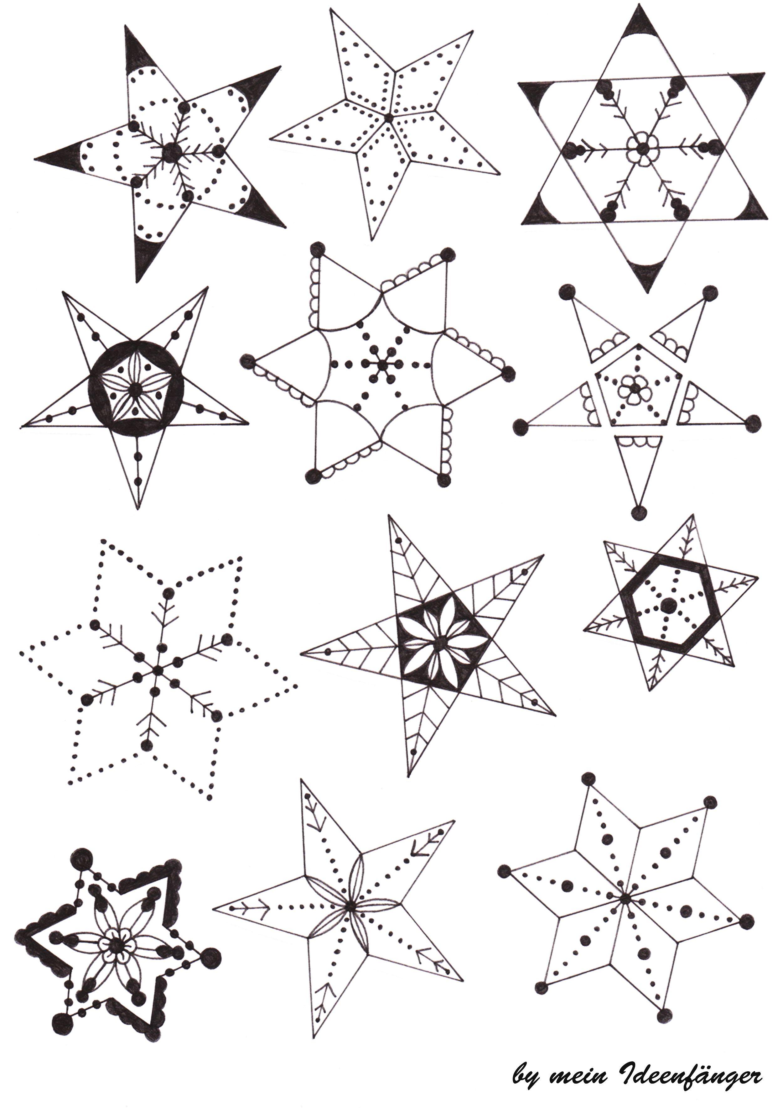 Sternvorlage Zum Malen Vorlage Stern Sterne 5