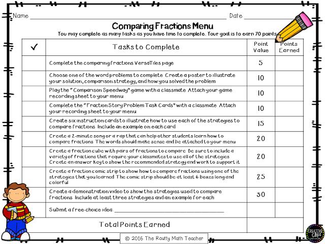 Transformation Tuesday Math Menus List Menu  Menu List Math