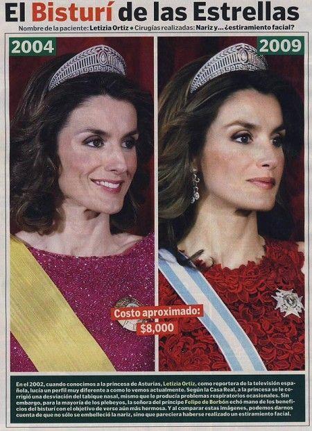 Princesa letizia antes y despues de adelgazar