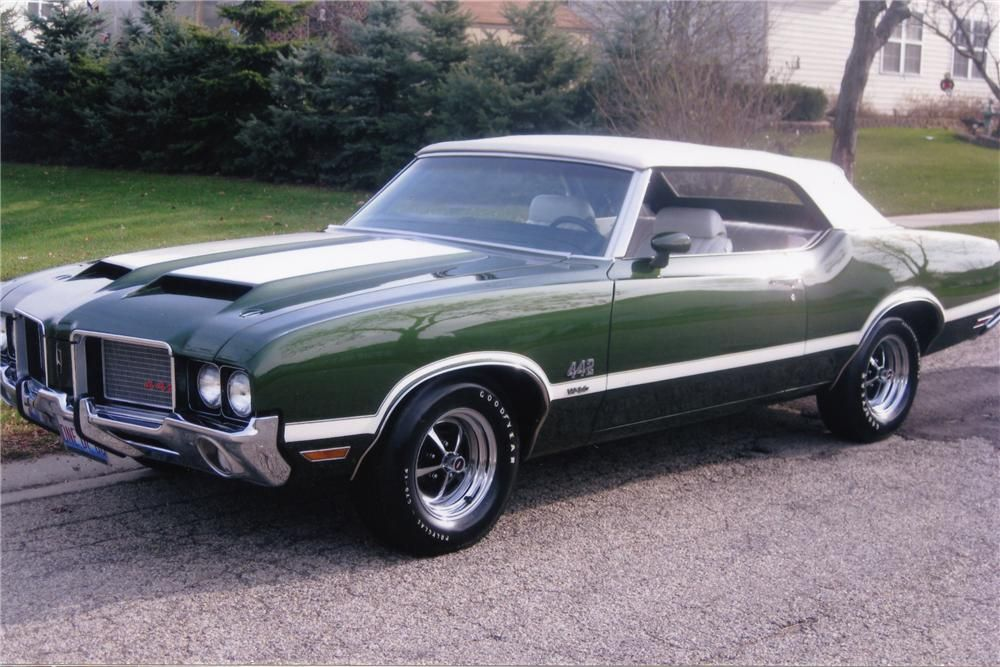 1972 Oldsmobile Cutlass 442 W30 Convertible. One of my top-10 cars ...