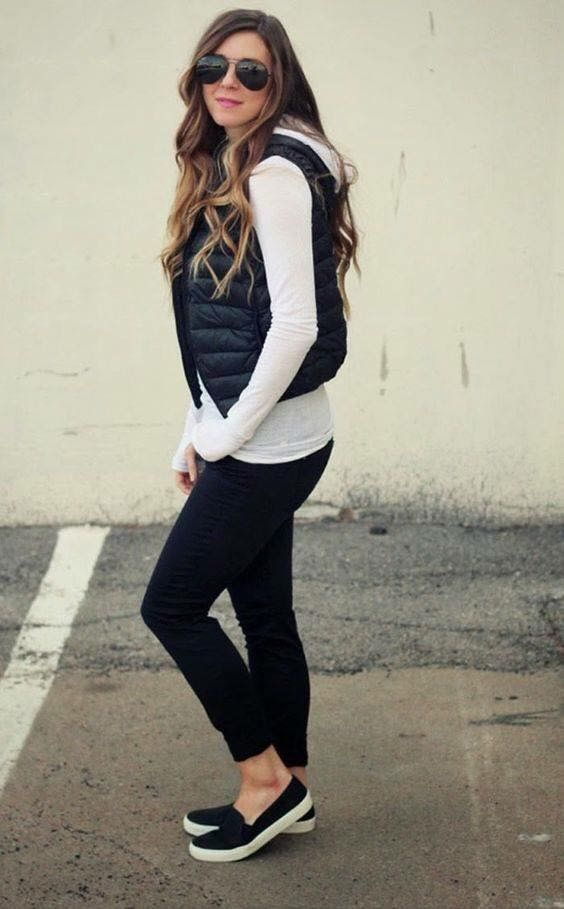 Outfits Pinterest Negro Chaleco Y Puffer Vest Outfits wxT7Sqavt
