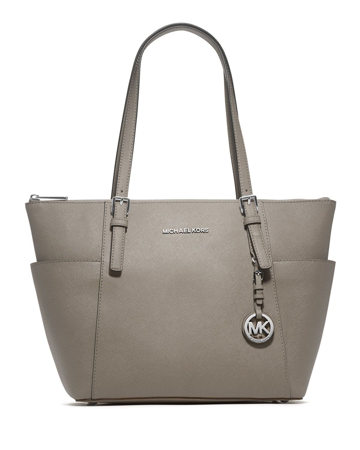 8361983446db Jet Set Top-Zip Saffiano Tote Bag, Pearl Gray by MICHAEL Michael Kors at  Neiman Marcus.