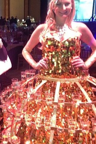Took this off Instagram look at this grulees dress it's all champagne