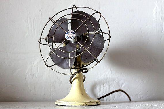 French Vintage Mid Century Electric Fan 1950s @ RueVertdegris