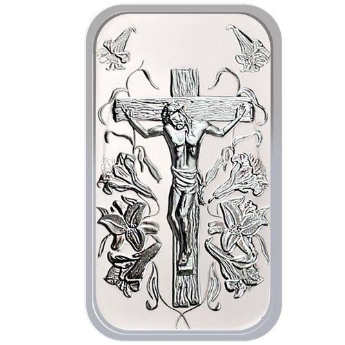 Jesus Cross 1oz 999 Fine Silver Bar By Silvertowne Jesus On The Cross Silver Bars Custom Mints