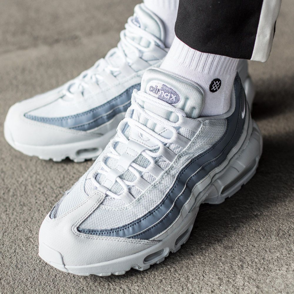 e5ce4927f301 Nike Air Max 95 Essential | Pure Platinum/Slate | Mens Trainers [749766-