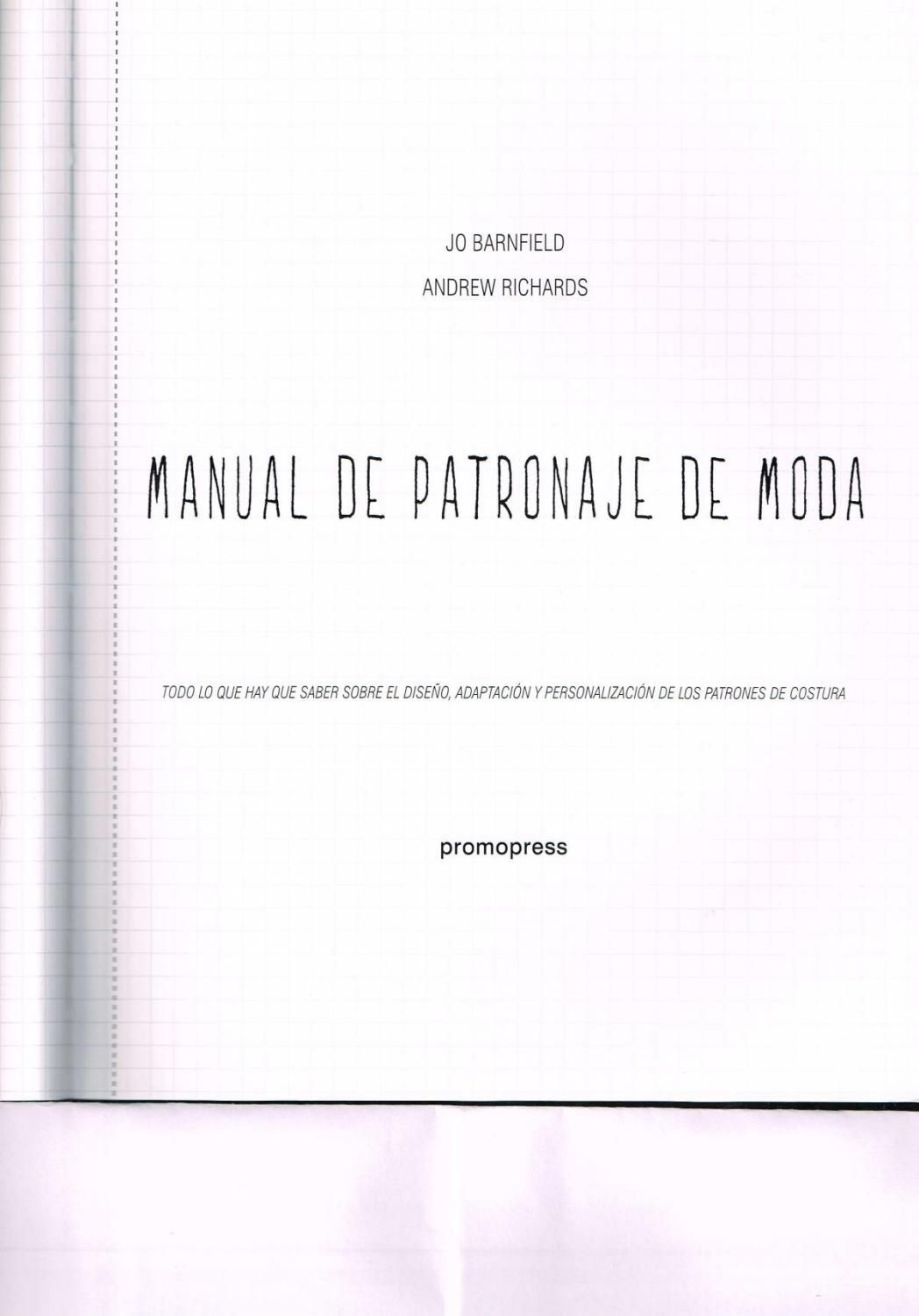 Libro manual de patronaje de moda completo | revistas | Sewing ...