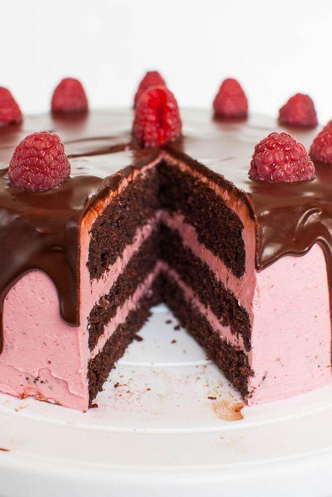 Schoko Himbeer Torte Mit Cremiger Ganache Rezept Backen Cake