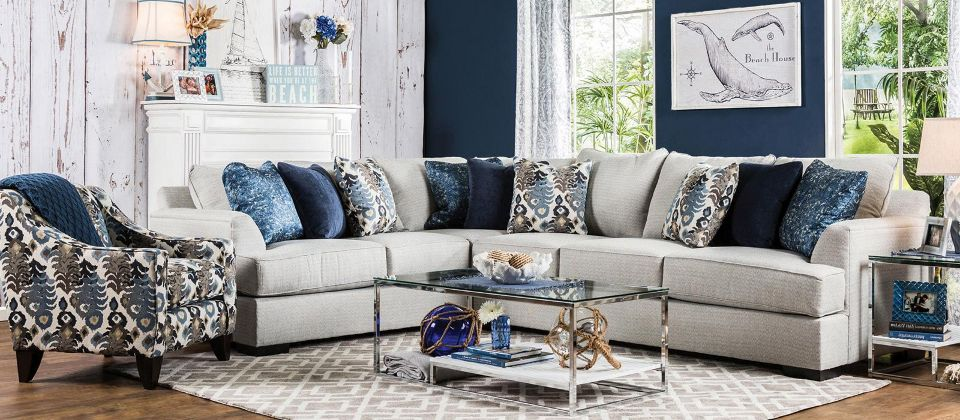 Sink Into A Nautical Living Room Made For Relaxation Sectional