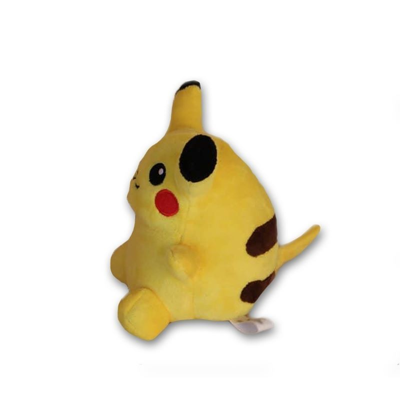 fat pikachu sitting 15cm stuffed plush toy