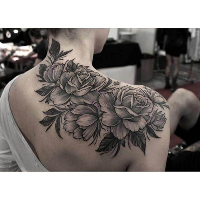 Rosa Sombreada No Ombro Tattoo Tatuagem Rosa Tatuagem