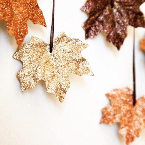 Some decoration inspiration #glitter #decorations #inspiration #leaves
