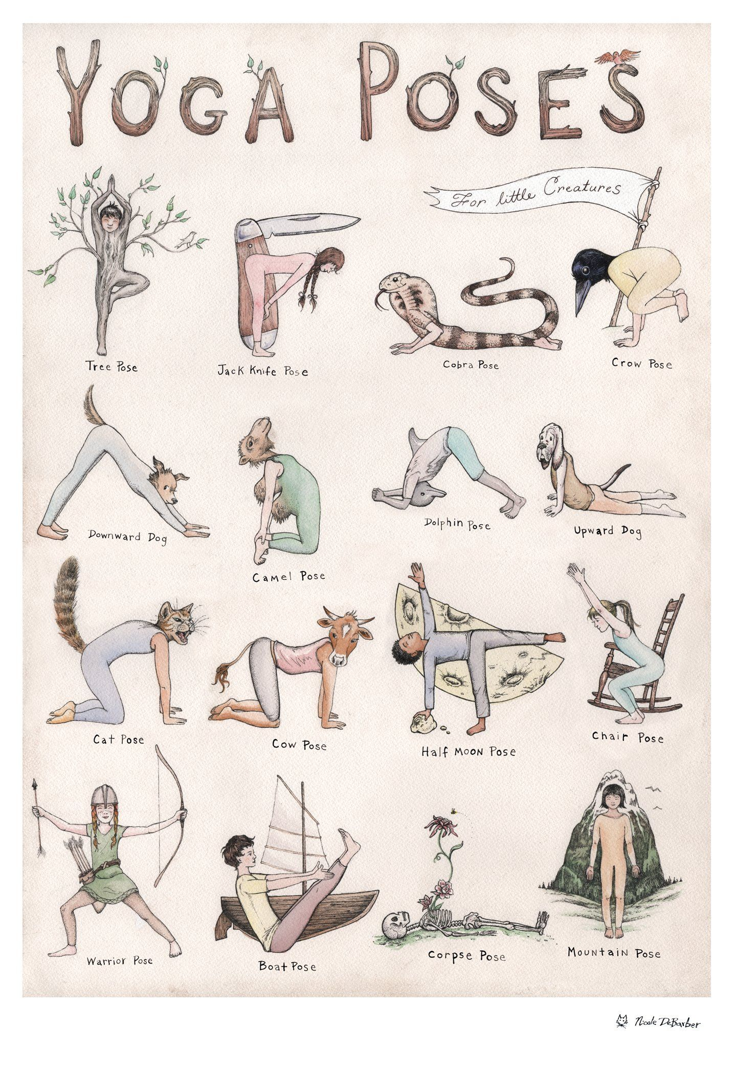 Yoga Poses for Creatures