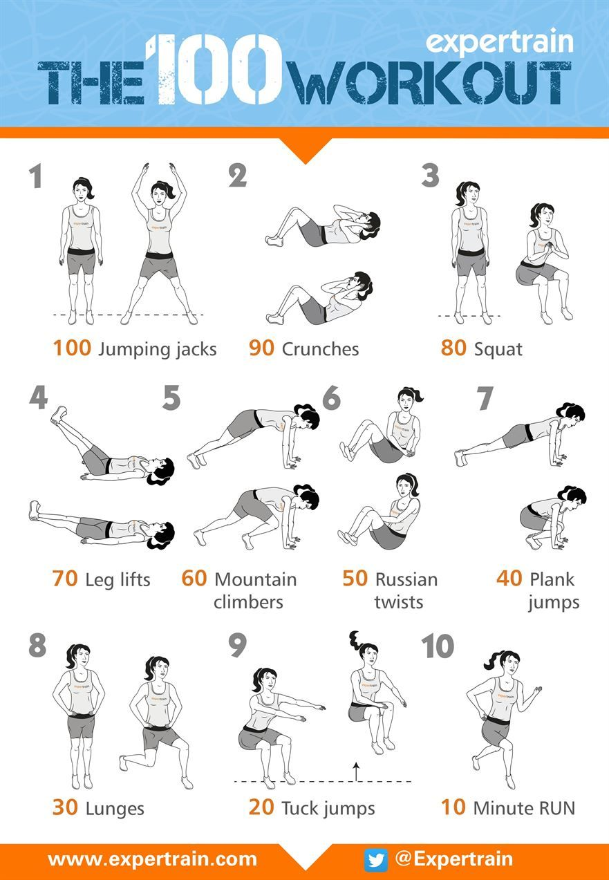 The 100 Workout Workout 100 workout, Full body weight