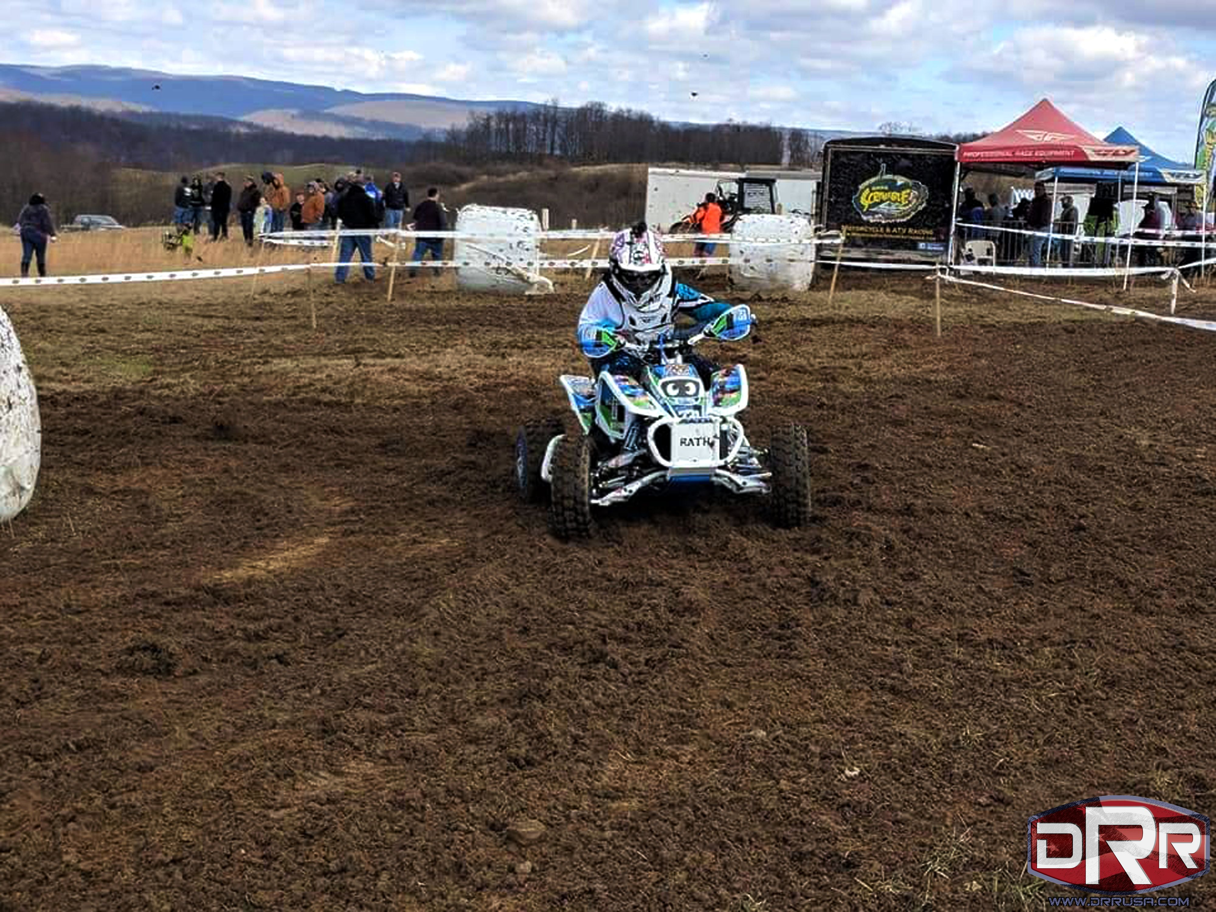 medium resolution of emily hanlin at the mountain state harescramble on 3 31 18 riding her drr drx 90cc atv