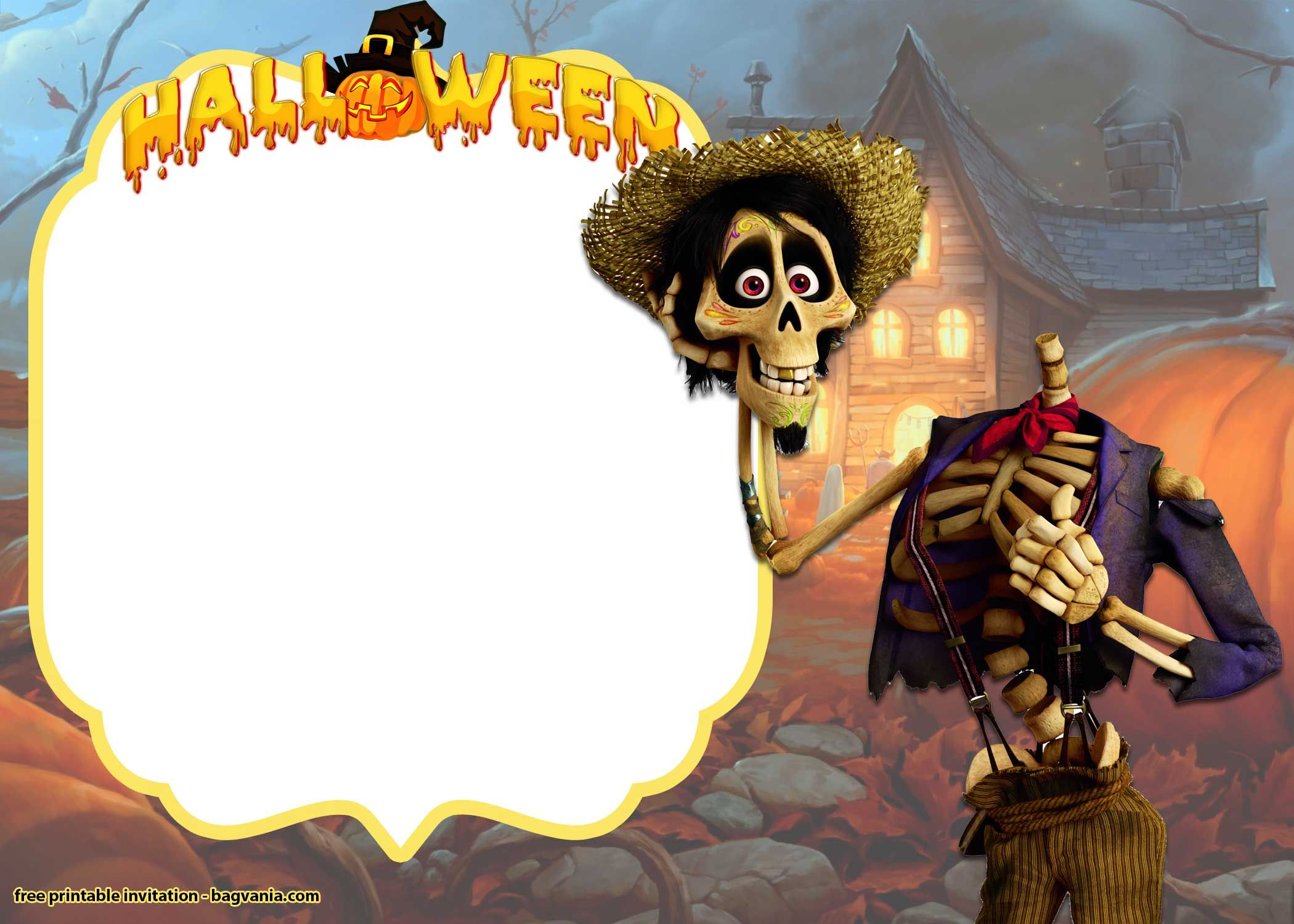 free mickey and minnie halloween invitation templates | bagvania