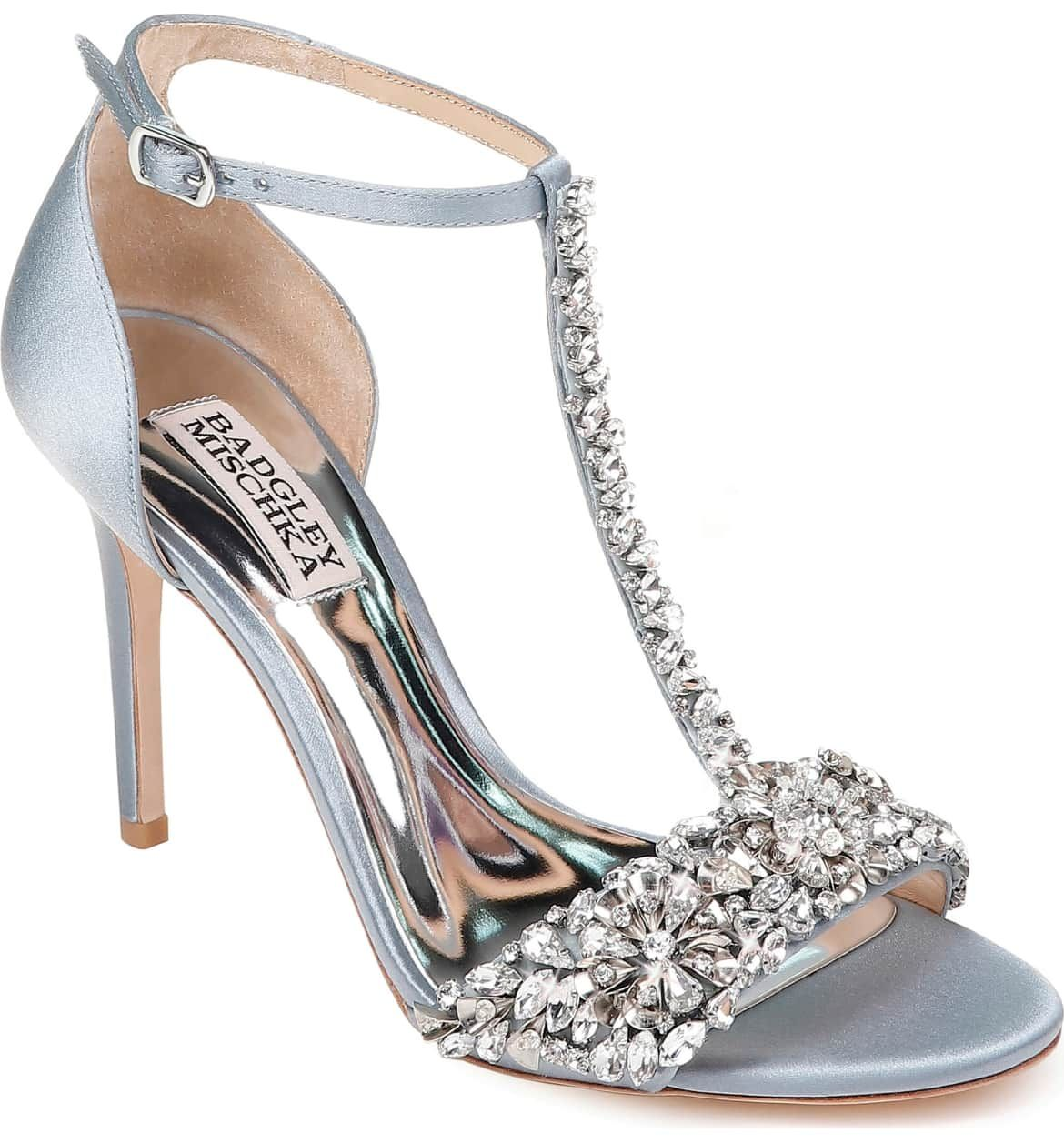 43fd3f6199 Crystal Embellished Sandal, Main, color, CANAL BLUE SATIN   shoes ...