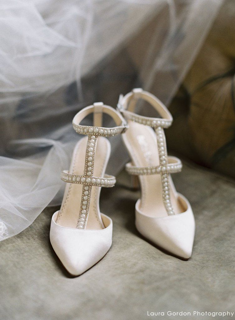 e6d97cd57 Carolina - Silver Crystals Pearl Ivory Wedding Shoe in 2019 | Ivory ...
