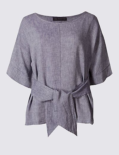M/&S COLLECTION Women/'s Pure Cotton V-Neck Half Sleeve T-Shirt NEW!!