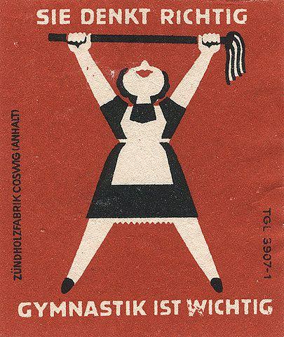 Gymnastik Vintage Illustration Kunst Poster Retro Poster