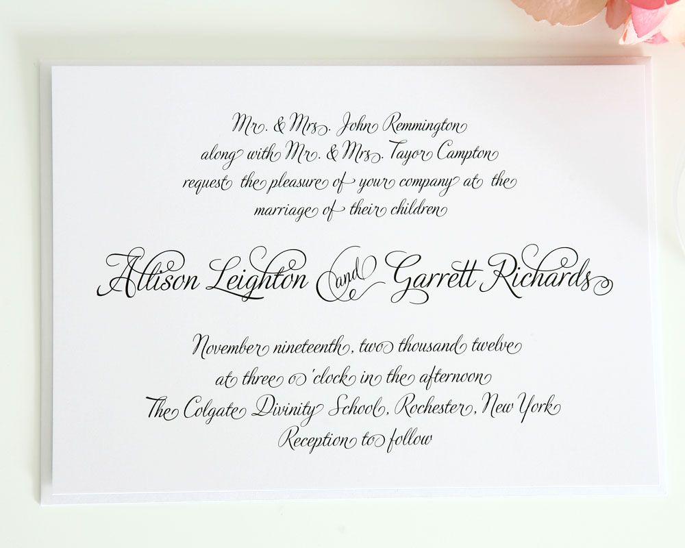 Fairytale script wedding invitations fairytale wedding fairytale script wedding invitations monicamarmolfo Images