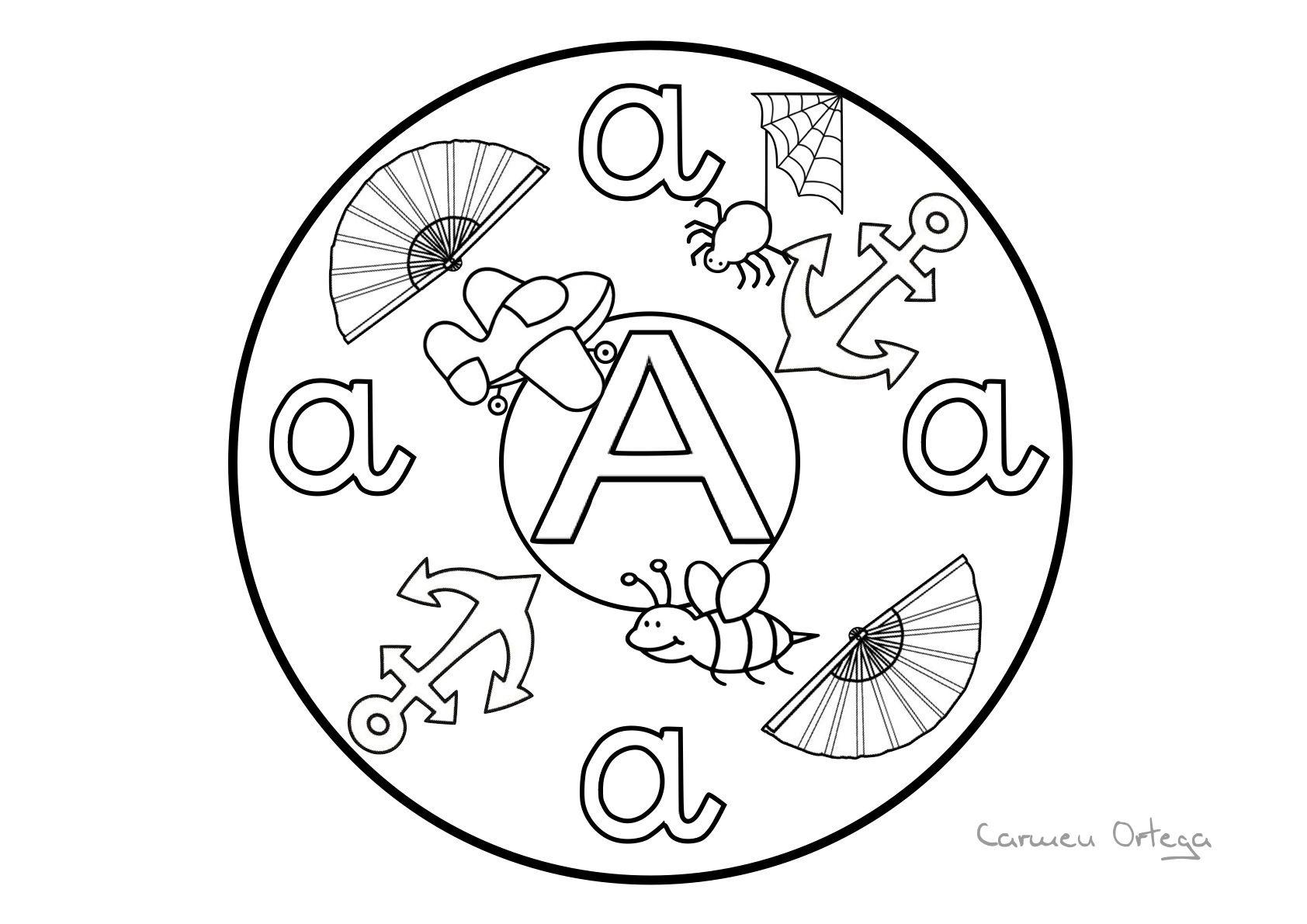 Recursos para el aula: Mandalas del Abecedario para colorear ...