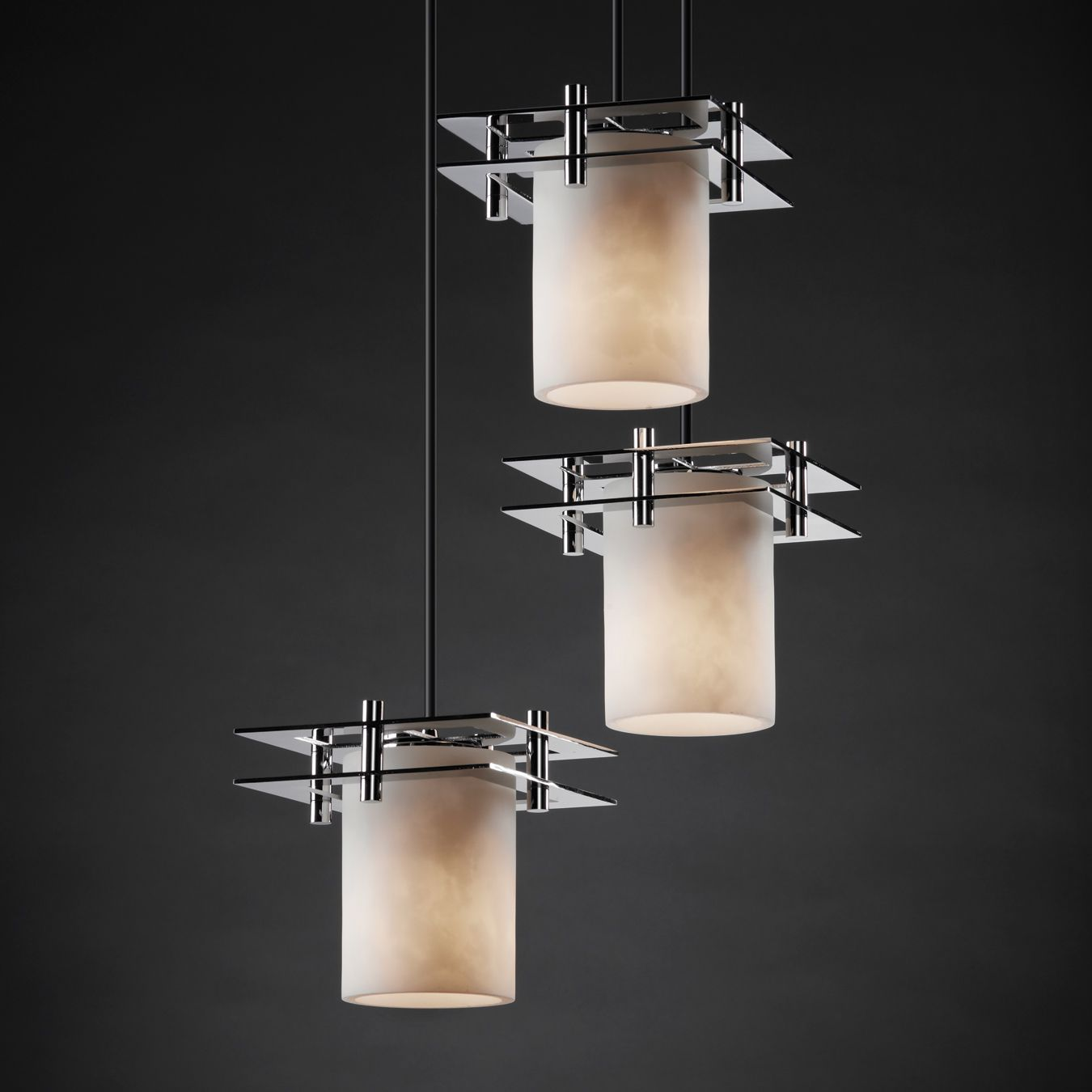 Justice Design Group Cld 8166 Clouds Metropolis 3 Light Cluster