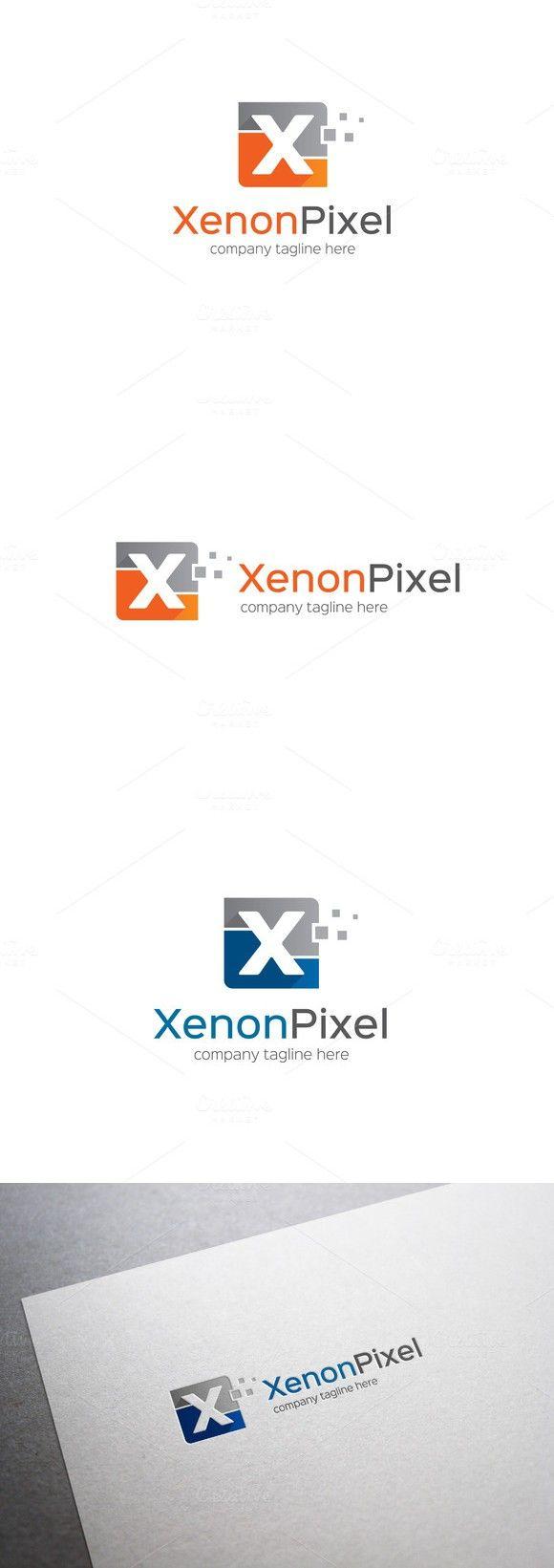 Xenon Pixel Letter X Logo