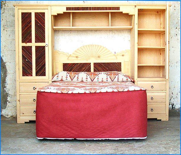 Salt Cedar Twig Inserts On Wall Bedroom Unit Fancies For A Dream Gorgeous Bedroom Wall Unit Headboard