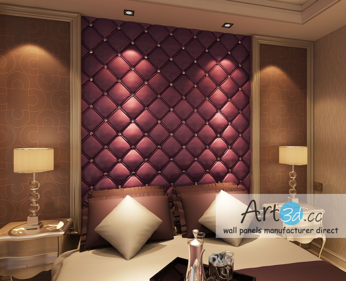 Superieur Leather Tiles In Bedroom Wall Design