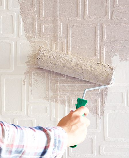 In store at your local Builders Warehouse, paintable wallpaper is available in various embossed designs and is applied as you would conventional wallpaper.