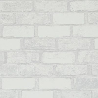 Williston Forge 32 97 X 20 8 Faux Running Brick Wallpaper In 2020 Brick Wallpaper Faux Brick White Wall Paneling