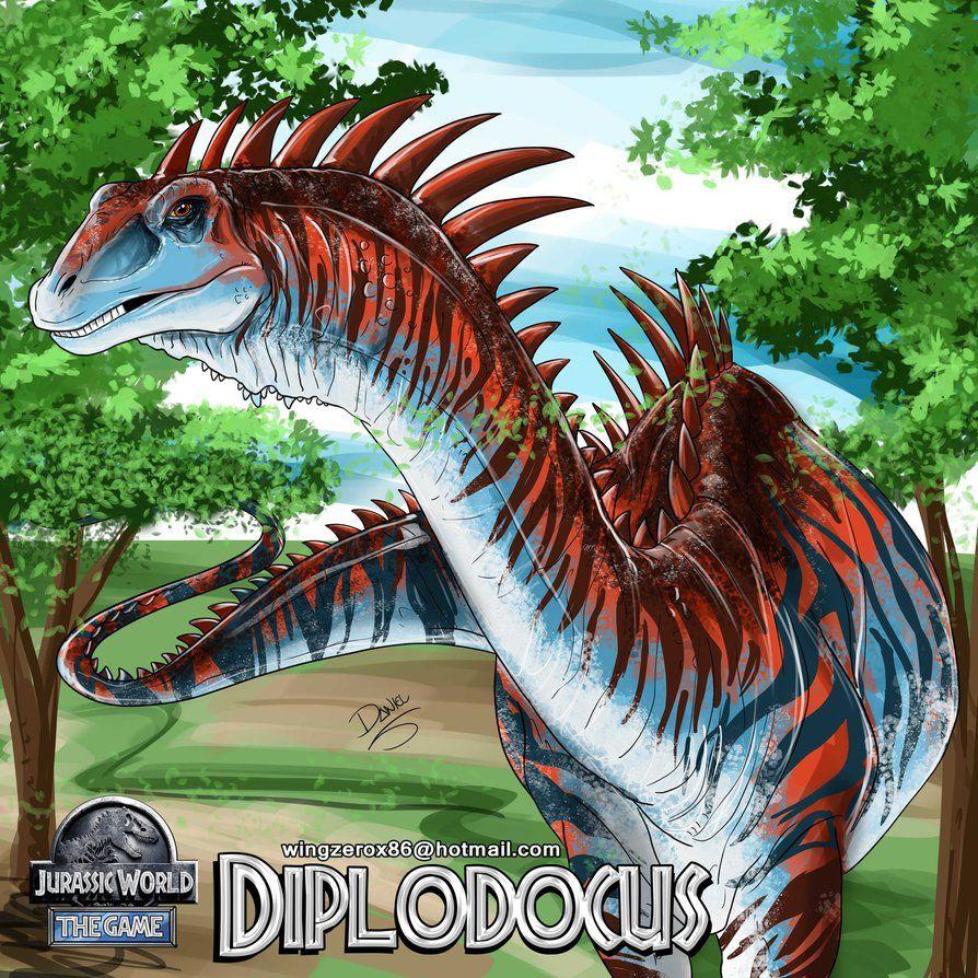 Jurassic World DIPLODOCUS by wingzerox86 | Dinos | Pinterest | Arte ...