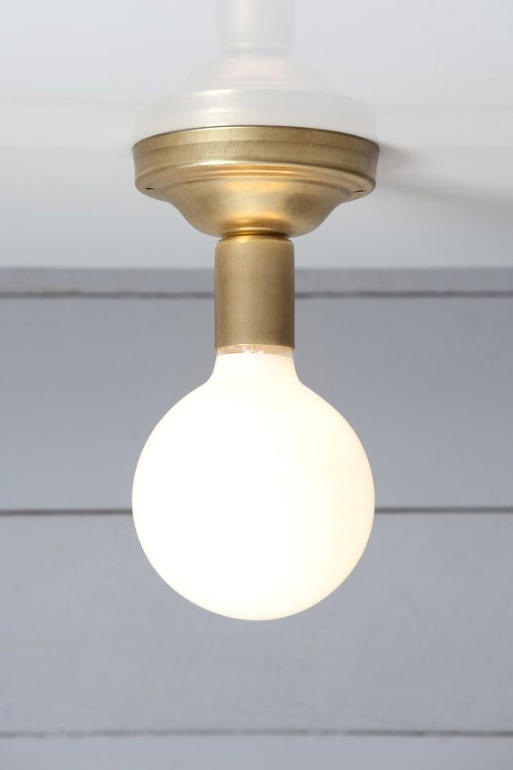 Brass ceiling light vintage lamp от indlights на etsy