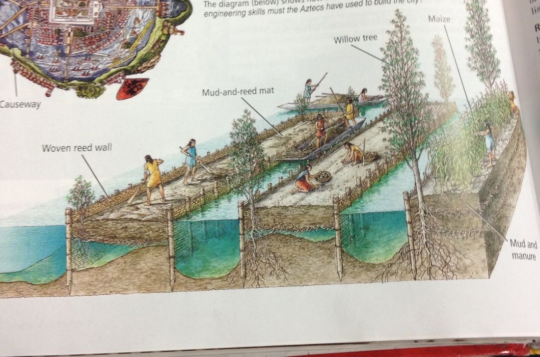 Floating Garden Beds Used By The Aztec For Farming