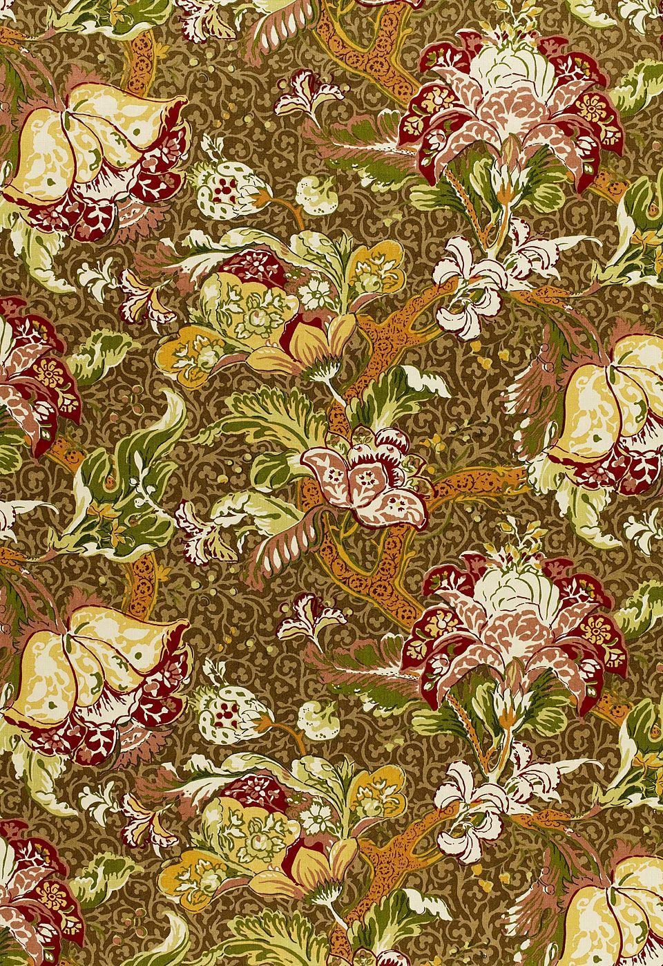 Fabric Ariella Jacobean in Fawn Schumacher