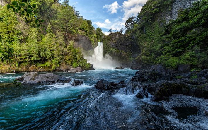 Fondo De Pantalla Selva: Descargar Fondos De Pantalla Hermosa Cascada, Río, Bosque