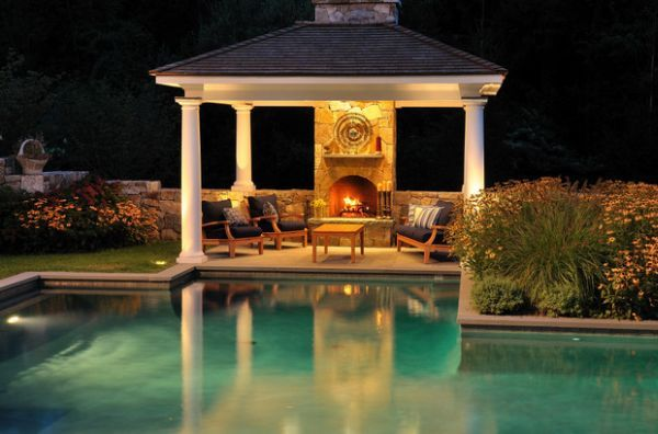 Landscape Lighting Ideas For Pools And Gazebo