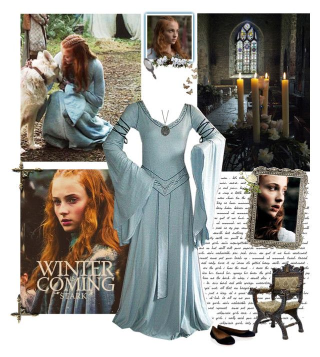 """""""Sansa Stark"""" by greerflower ❤ liked on Polyvore featuring Alaïa, OKA and Nearly Natural"""