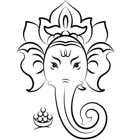 Close Up View Of Ganesh Face Hindu God Vinyl Stickers Sticker Hindu Elephant Ganesha Drawing Ganesha Art