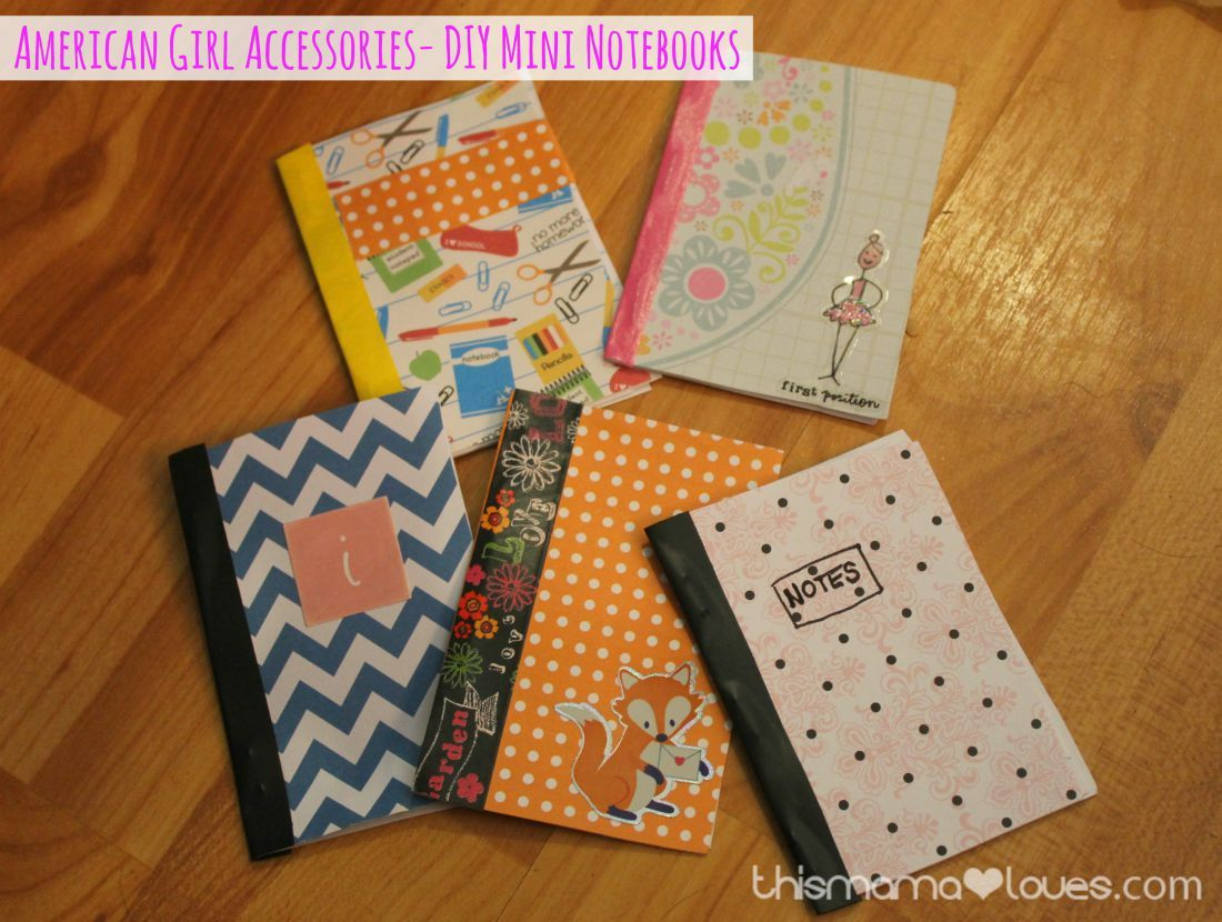 American Girl Accessories- Notebooks #americangirlhouse
