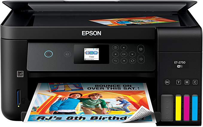 Amazon Com Epson Expression Et 2750 Ecotank Wireless Color All In One Supertank Printer With Scanner And Copier Electronics Circuit Projects Printer Epson
