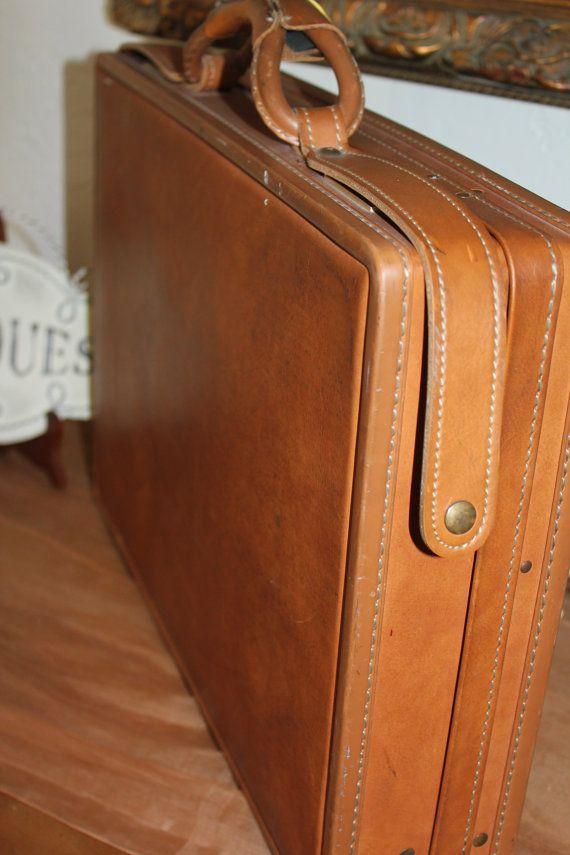 Hartmann Briefcase Brown Vintage Leather Attache Case with Two ...